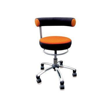 Sanus Gesundheitsstuhl Erzieherstuhl, Sitzhöhe standard (42-51 cm), Stoffbezug, orange/schwarz