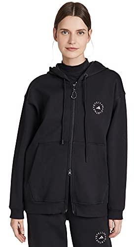 adidas by Stella McCartney Women's Full Zip Hoodie, Black, Small