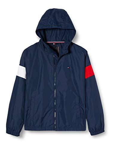 Tommy Hilfiger Jungen Essential Hooded Jacket Jacke, Blau (Twilight Navy 654-860 C87), One Size (Herstellergröße: 86)