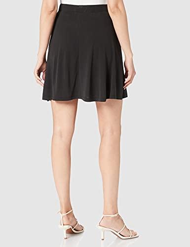 PIECES PCKAMALA MW Skirt Noos BC Falda de Skater, Negro, L para Mujer