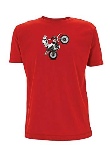 Time 4 Tee Yamaha XT 500 T-Shirt Stormtrooper Classic Scrambler 1970er Jahre Adventure UK Geschenk für Vater, Ehemann, Bruder, Freund Gr. L, rot