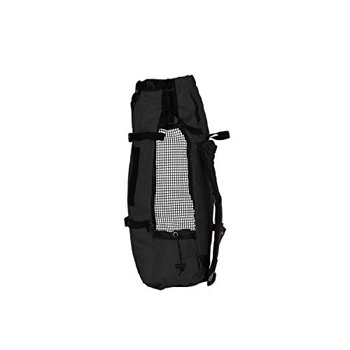 K9 Sport Sack | Dog Carrier Backpack for Small and Medium Pets | Front Facing Adjustable Pack with Storage Bag | Fully Ventilated | Veterinarian Approved (Large, Air - Jet Black)