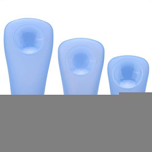 3 stuks siliconen make-up dispenser flessen met speen (blauw), 3 stuks draagbare siliconen dispenser flessen met zuignap voor conditioner make-up blauw