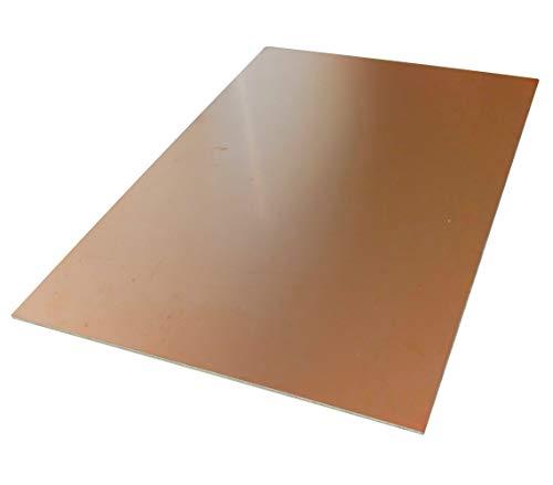 AERZETIX: Platte Brett Blatt in Kupfer für Leiterplatte 297/210/1,5 mm 35µm Kunstharz Epoxidharz Fiberglas C40694