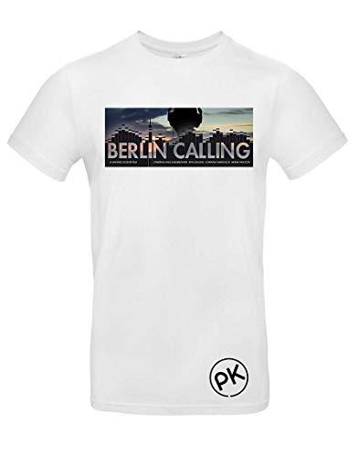 TsForYou T-Shirt Berlin Calling, A000049, Weiß, A000049 Medium