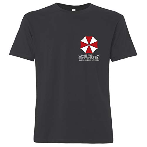 OutlawTex - Umbrella Corporation Brustlogo - Herren T-Shirt Grau L