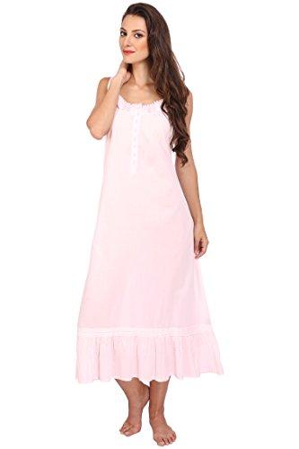 Koszulka nocna w stylu wiktoriańskim bez rękawów długa bielizna nocna damska bawełna duży rozmiar vintage koszula nocna