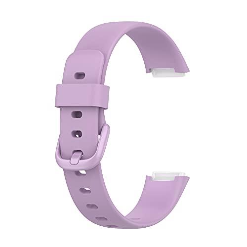 Tiggo Correa para Fitbit Luxe,Bandas De Correa Repuesto la pulsera de actividad y bienestar ,Recambio Brazalete Correa Repuesto Strap Wristband para FitbitLuxe Accessories Women (púrpura)