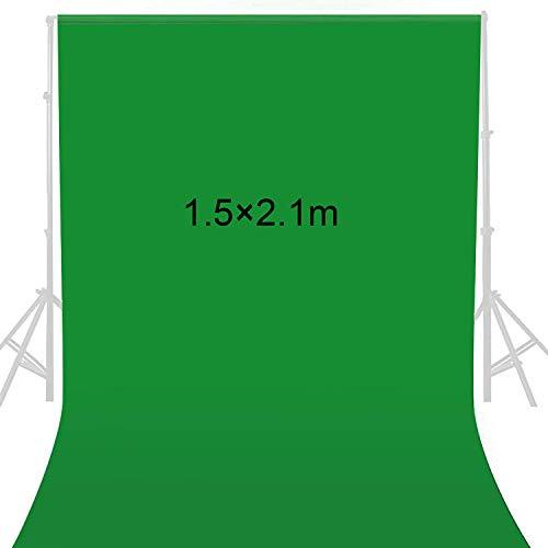 1.5 x 2.1m sfondo per studio fotografico,green screen,Fotografia di Prodotti sfondo,Sfondo Pro Pieghevole,Sfondo Screen Portatile Pieghevole,Sfondo Fotografico Verde,Fondale Fotografico Kit (verde)