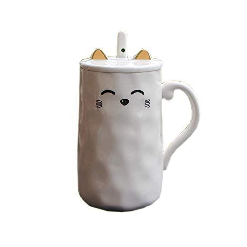 Mark Cup Keramische Cup Beker Met Grote Capaciteit Met Deksel Lepel Koffiekopje Ontbijt Melk Beker Met Deksel Lepel