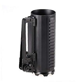 Habile multifonction en alliage d'aluminium amovible Carry bataille rail Tasse Sport de plein air solide Beer Cup avec Rail et de la vue arrière Poignée