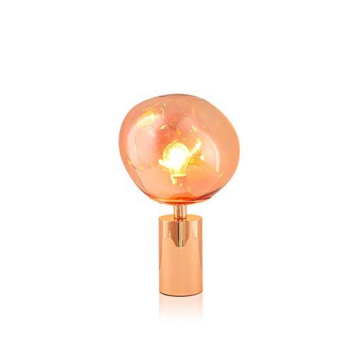 Moderne led-tafellampen, Nordic van ijzer-glas, onregelmatige lava-decoratieve verlichting nachtlampje strip creatieve slaapkamer woonkamer studie bureaulamp bedlampje