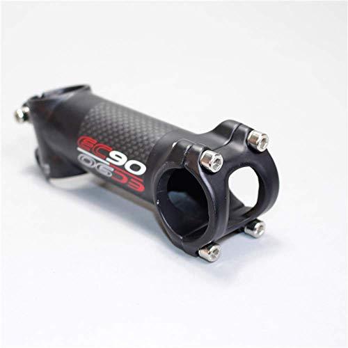YANQIN Bicycle carbon fiber handlebar, Road Bike Stem, 6/17 degree handlebar riser, 70/80/90/100/110/120 mm, for MTB Road Bike-6° 90mm