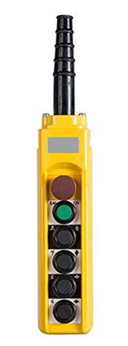 NEWTRY Hoist Crane Push Button Switch, 6 Keys Dust-Proof Rain-Proof Oil-Resistant Winch Bridge Crane Control