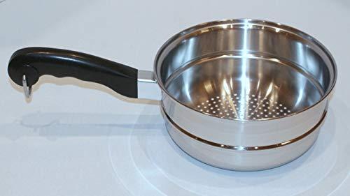 SALADMASTER Stainless Steel Steamer Insert Pan - Fits 2 or 3 Quart Pots