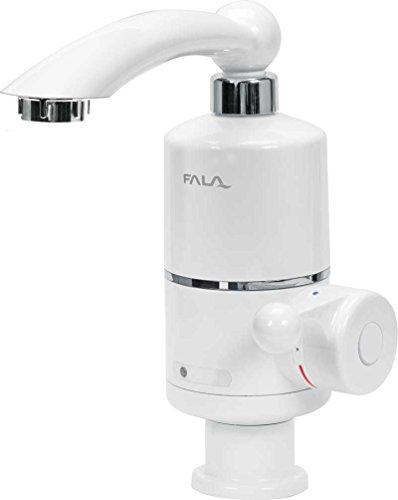 FALA Wasserhahn mit Durchlauferhitzer 3 KW 220 Volt zur Waschtischmontage 360° drehbar elektrische Armatur Für Badezimmer, Waschraum, Küche, Campingplatz