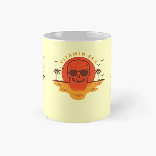 Vitamin Sea Classic Mug Gift The Office 11 Ounces Funny White Coffee Mugs-nilinkep