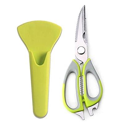 Multifunction Kitchen Scissors, Stainless Steel 7-in-1 Heavy Duty Cut Meat and Bone Kitchen Shears