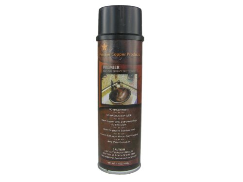 Premier Copper Products W900-WAX Copper Sink Wax Protectant, Clear