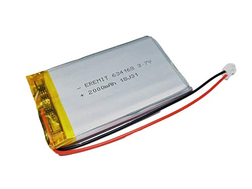 EREMIT LiPo Batterie Akku Lithium Polymer 2000mAh 3.7 V 1S JST PH 2.0mm 634168 PCB 4