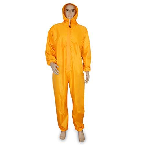 Multi-Funktions-Siamesische Schutzkleidung Staubdichte Kleidung Regendichte Kleidung Wasserdichte Arbeitsschutz Regenmantel Kapuze Arbeitskleidung-2 Farbe Optional ( Farbe : Orange , größe : XXL-180 )