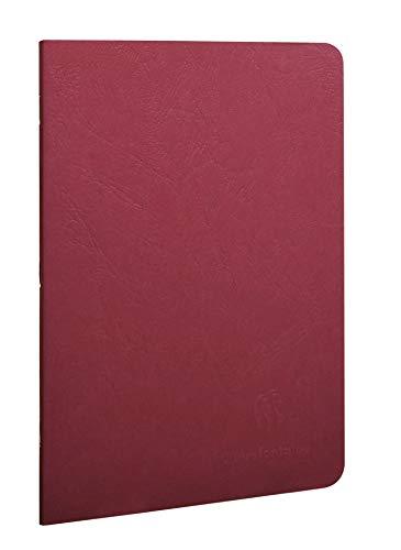 Clairefontaine 733162C Libretto A5, rilegato in borsa d'epoca, foderato, 48 fogli, rosso