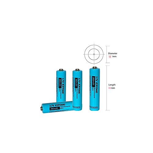Price comparison product image AAA Size 3.7V ICR10440 Lithium Rechargeable Battery, 4 Packs