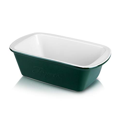 Joyroom Ceramic Bakeware for Cooking, Nonstick Loaf Pan for Baking Bread, Rectangular Bread Pan for Casserole Dish, Cake Dinner and Kitchen, Bread Loaf Pan Letter Collection (Green)