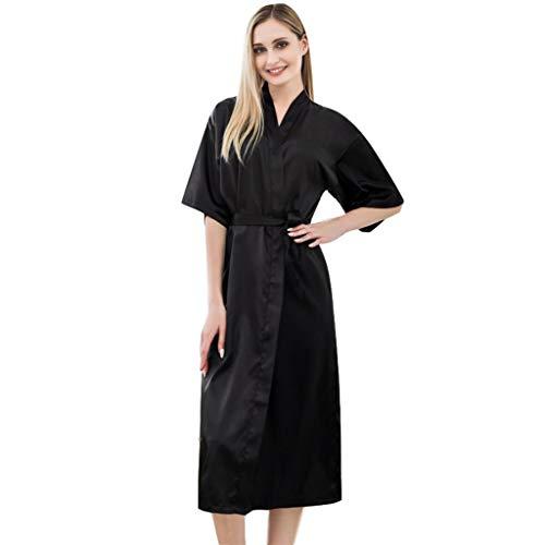Kamerjas Nachthemd Vrouwen Badjas Satin, Long Kimono Robes Bride Bridesmaids Lingerie Robes Slaapkleding Pajamas, Sexy Dames Robes Strappy Nachtkleding Nachtkleding Nachthemd