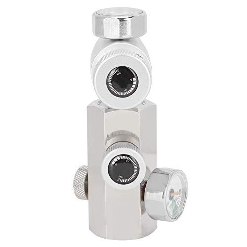 Adaptador de recarga de cilindro de CO2, 2 vías Cga320 G1 / 2 Adaptador de botella de refresco de latón para el hogar Kit de conector de recarga con válvula de liberación para controlar de forma segur