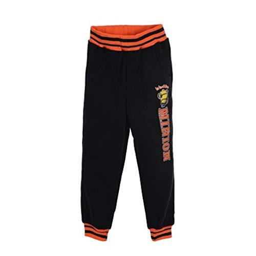 Minions Jungen Kinder Jogging-Hose, Farbe:Schwarz, Größe:98 (3 A)