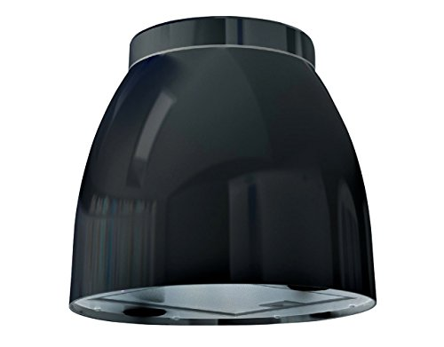 Bielmeier V875700 Inselhaube / 31,6 cm/LED-Beleuchtung/schwarz