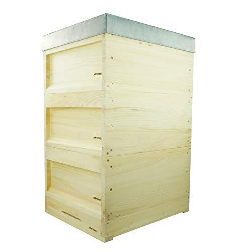 APIFORMES Zander Beute (ZN10) 10 Waben - Weymouthskiefer Liebig Beute 520x420-10 Waben Holzbeute | Hohenheimer Einfachbeute | Imkerei Imkereibedarf