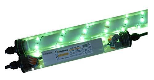 Led Gabionen Licht Beleuchtung LED 3x0,80m länge 360° Farbe grün Außenbeleuchtung Steinmauer Garten Anschluß 230 Volt über offene Kabelenden