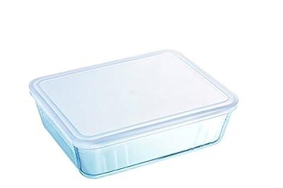 Pyrex Rectangular Dish with Plastic Lid, 4.0L