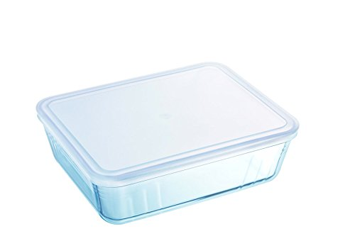 Pyrex - Cook & freeze - Plat Rectangulaire en Verre avec Couvercle 0.80 L / 19x14 cm