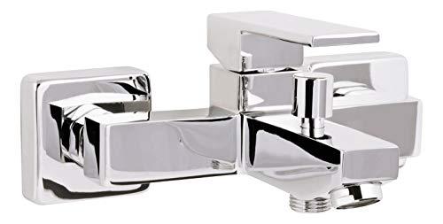 'aquaSu® Einhandmischer Aqua für Wanne | Chrom | Wasserhahn | Einhebelmischer | Badewannenarmatur