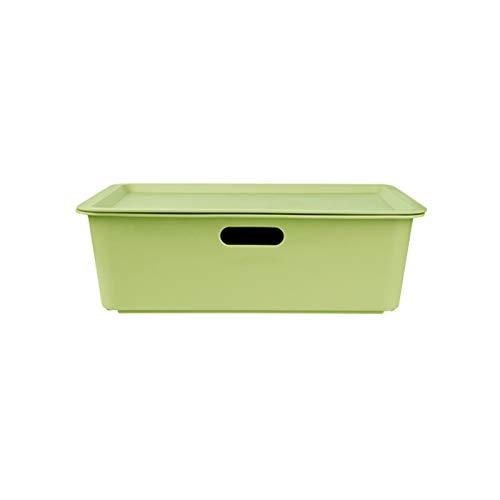 YUMEIGE Caja de almacenamiento de cosméticos Caja de almacenamiento de plástico, caja de almacenamiento de bocadillos con tapa, caja de almacenamiento de juguete de juguete de juguete de juguete, caja