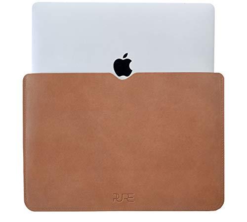 """Funda de Piel AVIOR MacBook Pro 16"""" - Cuero auténtico Sleeve Protectora para portátil l Compatible con MacBook Pro 16 Pulgadas 2020 2019"""