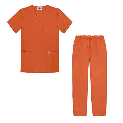 Sivvan Womens S8400MNDXL Medical Scrubs, Orange (Mandarin Orange), X-Large-US