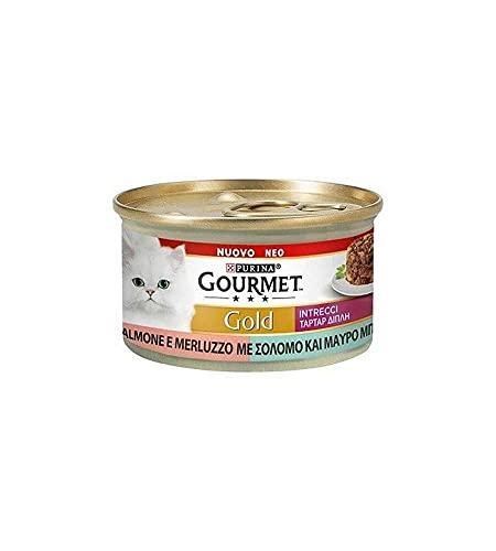 Purina Gourmet Gold - Húmedo para gatos trenzados, 24 latas de 85 g cada una, paquete de 24 x 85 g