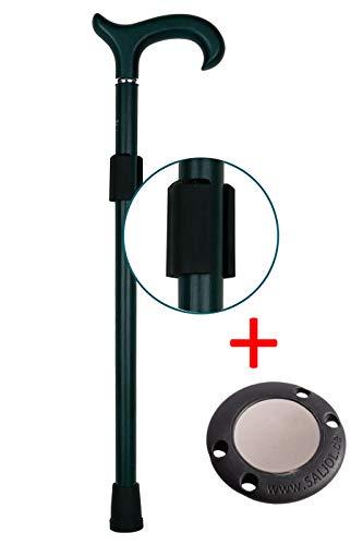 Magnetischer Stockhalter HELD (schwarz) mit TALER von SALJOL, Krücken gesichert