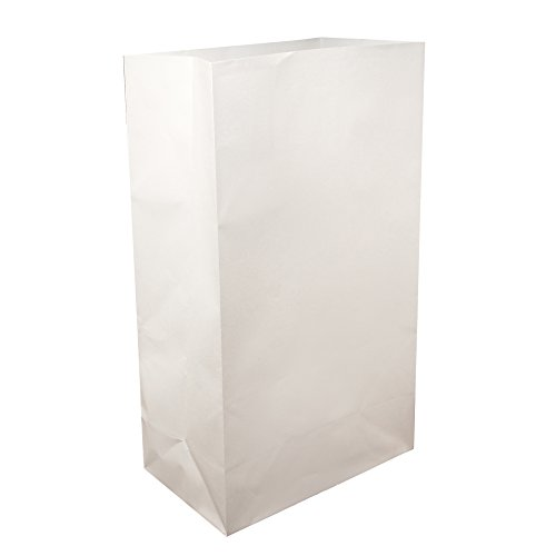 LumaBase 00410 100 Count Standard Luminaria Bags, White