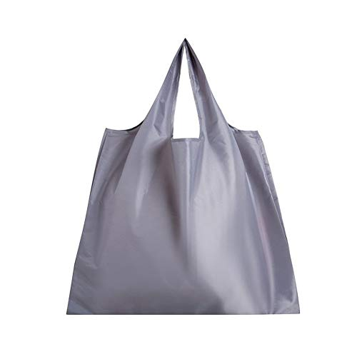 TianKunEU Pure Color Eco Tote Bolsa de la compra plegable de impresión Mujeres RECICLE la bolsa de almacenamiento de manera femenino de supermercado Bolso del comprador Bolso de mano de protección amb