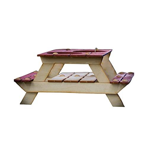 Qingxin Soporte de cerveza o estante de condimentos mini mesa de picnic kit 3D útil centro de mesa para tu bebida de verano