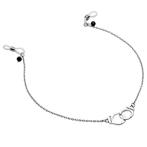 PiercingJ Non-Piercing 1 Stück Silikon Hoop Fake Handschellen Brustwarzenpiercing mit schwarz Kristall Nippelpiercing Brustpiercing Ring Unisex Punk