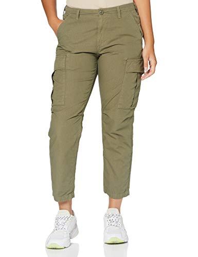 Superdry Ripstop Cargo Pant Pantalones, Verde (Washed Khaki Gvk), 36 (Talla del Fabricante: 26 30) para Mujer