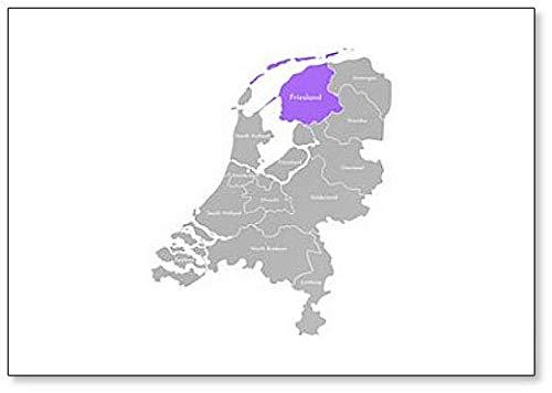 Kaart van de provincies (Nederland), Friesland Classic Koelkast Magnet