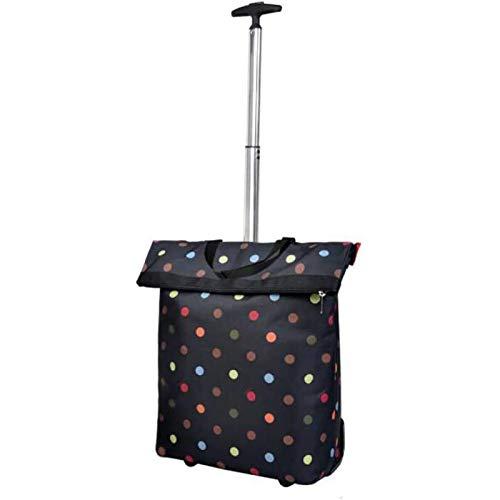 PLAYH Large-capacity Wheeled Shopping Cart, Light Foldable Shopping Cart, Reusable Multi-purpose Shopping Cart (loading 50 Kg)