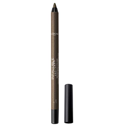 L'Oreal Paris Makeup Infallible Pro-Last Pencil Eyeliner, Waterproof and Smudge-Resistant, Glides on Easily to Create any Look, Ivy, 0.042 oz.